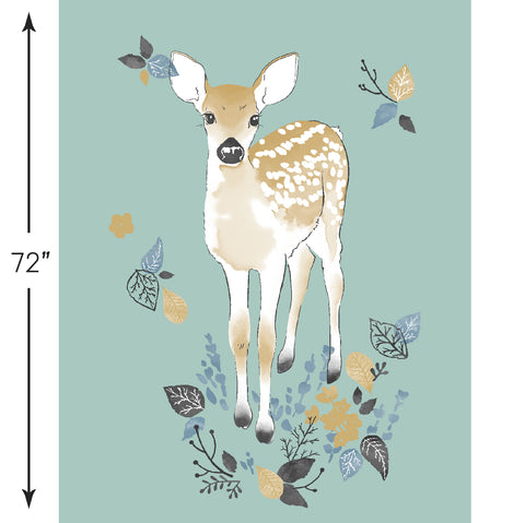Fawn | Fawn Crib & Quilt Panels in Aspen - Hawthorne Threads Digital Fabrics - Afterpay