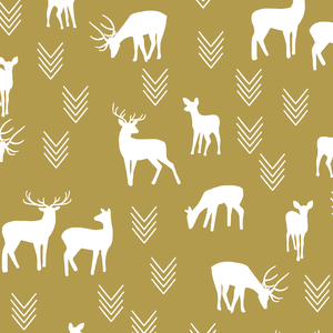 Hawthorne Threads - Deer Silhouette - Deer Silhouette in Gold