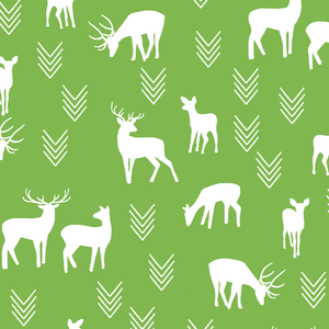 Hawthorne Threads - Deer Silhouette - Deer Silhouette in Greenery