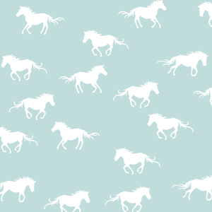 Hawthorne Threads - Horse Silhouette - Horse Silhouette in Glacier Blue