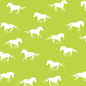 Hawthorne Threads - Horse Silhouette - Horse Silhouette in Lime