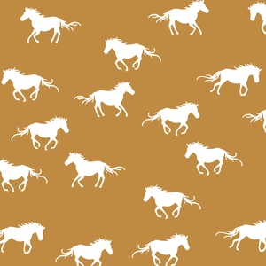 Hawthorne Threads - Horse Silhouette - Horse Silhouette in Ochre