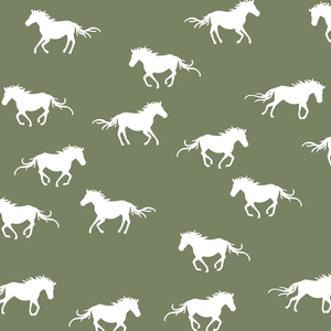 Hawthorne Threads - Horse Silhouette - Horse Silhouette in Olive