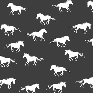 Hawthorne Threads - Horse Silhouette - Horse Silhouette in Onyx