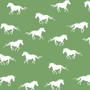 Hawthorne Threads - Horse Silhouette - Horse Silhouette in Pistachio