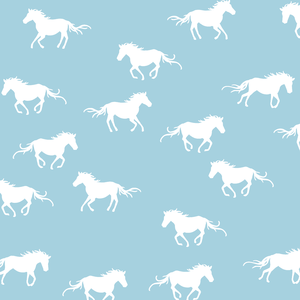 Hawthorne Threads - Horse Silhouette - Horse Silhouette in Robins Egg
