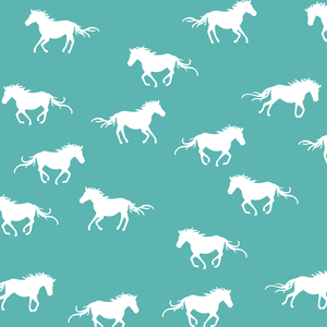Hawthorne Threads - Horse Silhouette - Horse Silhouette in Seafoam