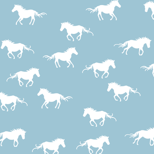Hawthorne Threads - Horse Silhouette - Horse Silhouette in Bluebell