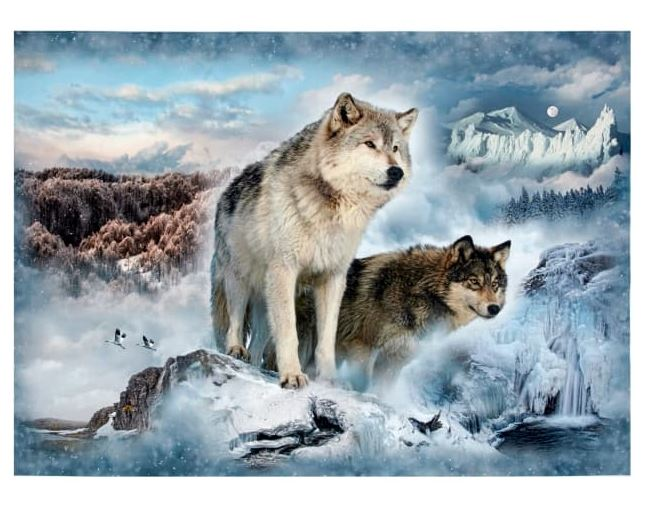 Call Of The Wild Digital Glacier Wolf Panel - Afterpay - free shipping australia