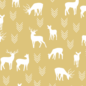 Hawthorne Threads - Deer Silhouette - Deer Silhouette in Honey