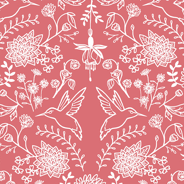 Nectar | Hummingbird Damask in Dahlia - Afterpay