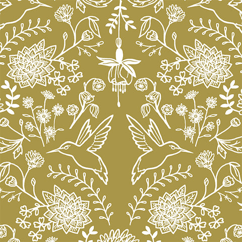Nectar | Hummingbird Damask in Gold - Afterpay
