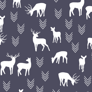 Hawthorne Threads - Deer Silhouette - Deer Silhouette in Ink