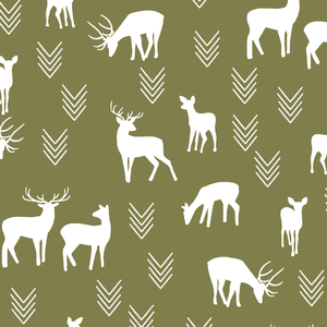 Hawthorne Threads - Deer Silhouette - Deer Silhouette in Jungle