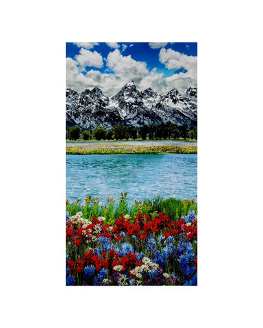 Mountain Majesties Digital Print Scenic Spring