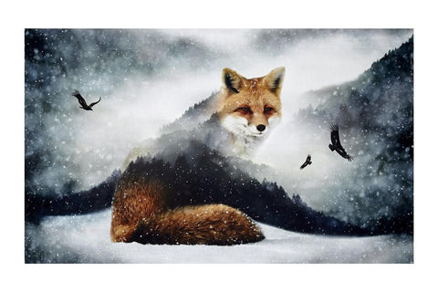"Call Of The Wild Digital 27.5"" Panel Foxes Fox"