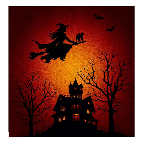 Supernova Seasons Digital Halloween Silhouette Panel Citrine