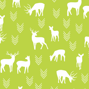 Hawthorne Threads - Deer Silhouette - Deer Silhouette in Lime
