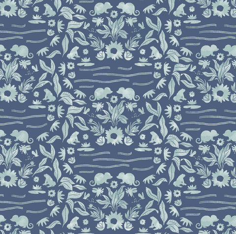 Thumbelina | Moonlit Damask in Midnight