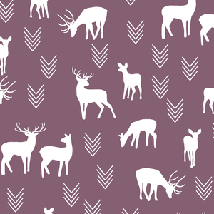 Hawthorne Threads - Deer Silhouette - Deer Silhouette in Mulberry