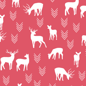 Hawthorne Threads - Deer Silhouette - Deer Silhouette in Passion