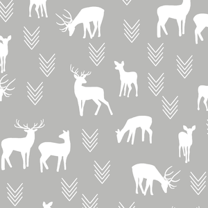 Hawthorne Threads - Deer Silhouette - Deer Silhouette in Pebble
