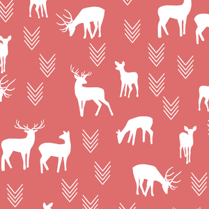 Hawthorne Threads - Deer Silhouette - Deer Silhouette in Poppy