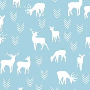 Hawthorne Threads - Deer Silhouette - Deer Silhouette in Robins Egg