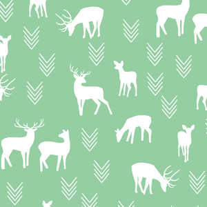 Hawthorne Threads - Deer Silhouette - Deer Silhouette in Sprout