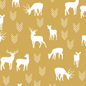 Hawthorne Threads - Deer Silhouette - Deer Silhouette in Straw