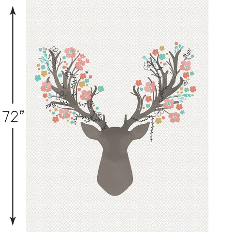 Fawn | Stag Crib & Quilt Panels in Tulip - Hawthorne Threads Digital Fabrics - Afterpay