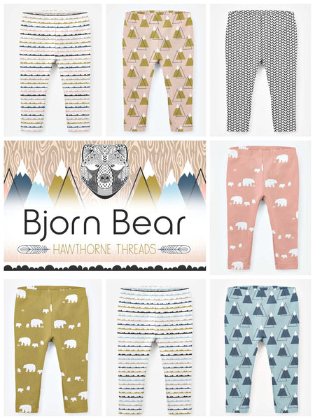 Hawthorne Threads Digital Fabrics - Bjorn Bear - Afterpay & Free Shipping AU