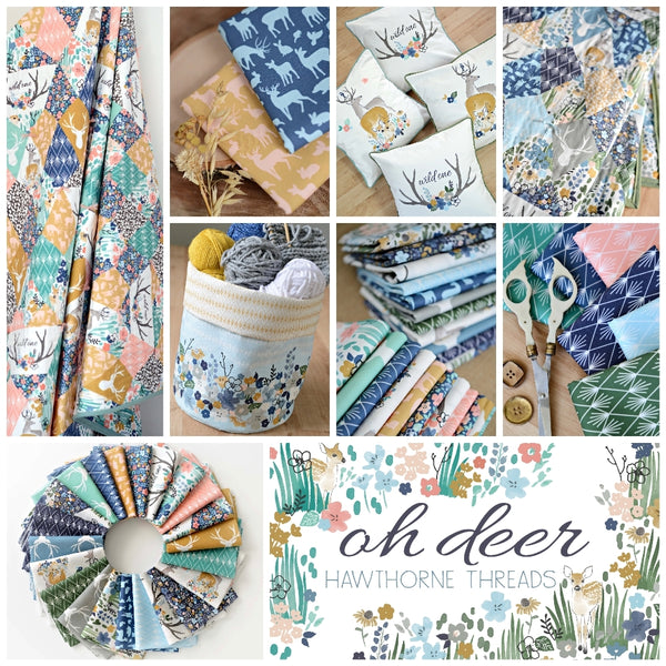 Oh Deer - hawthorne threads digital fabric collection - afterpay - free shipping au