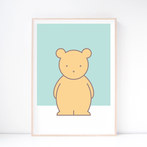 Kids' Art Print – Cute Bear Wall Art and Nursery Decor