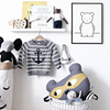 Monochrome Kids' Art Print – Cute Bear Print and Nursery Art