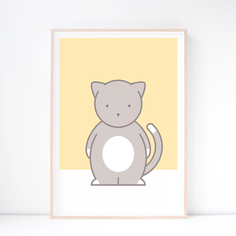 Kids' Art Print – Cute Cat Wall Art and Nursery Decor