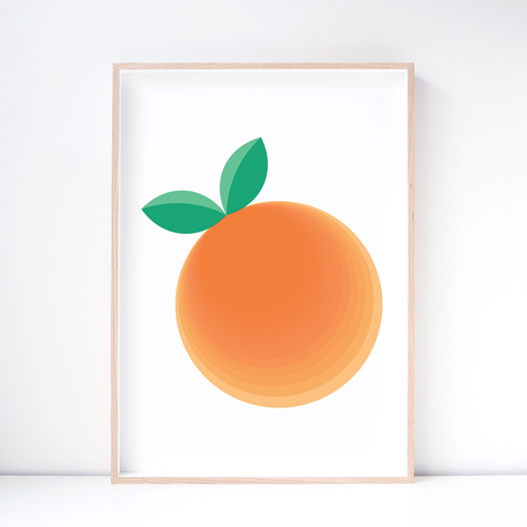 Fruit Art Print – Clementine Wall Art and Nursery Decor