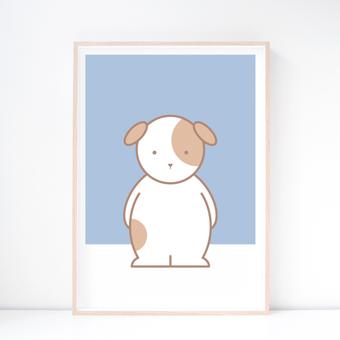 Kids' Art Print – Cute Dog Wall Art and Nursery Decor