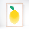 Lemon Art Print – Fruit Wall Art and Nursery Decor