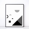 Fête No. 2 Monochrome Print – Geometric Wall Art