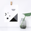 Fête No. 1 Monochrome Print –  Geometric Wall Decor