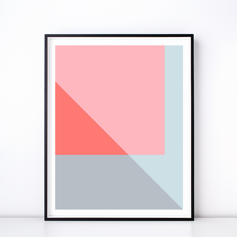 Mélange No. 2 Geometric Art Print – Modern Wall Decor
