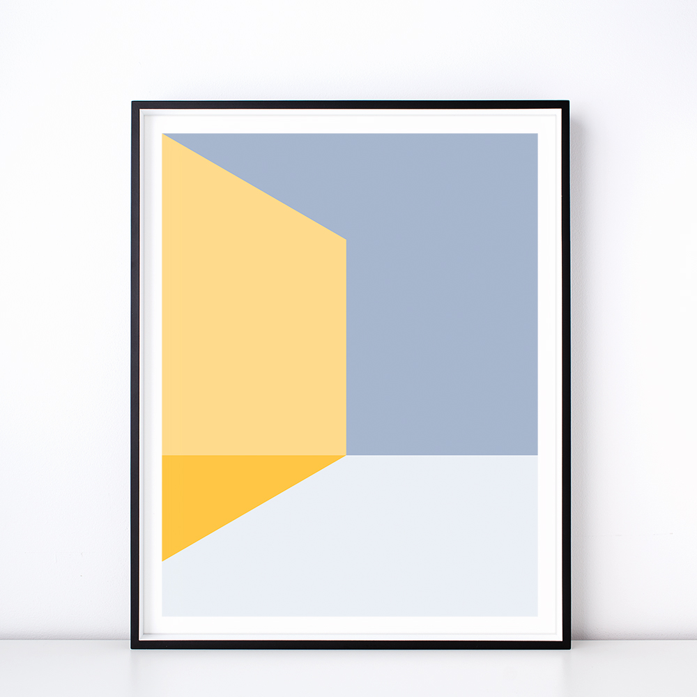 Geometric Form Art Prints – Wall Art by Hues & Fables