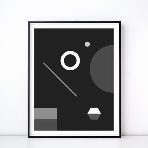 Soirée No. 1 Monochrome Print – Geometric Wall Art