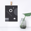 Soirée No. 1 Monochrome Print – Geometric Wall Decor