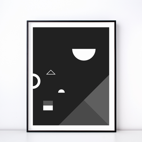 Soirée No. 2 Monochrome Print – Geometric Wall Art