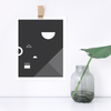 Soirée No. 2 Monochrome Print – Geometric Wall Decor