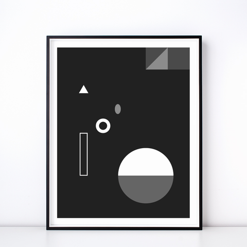 Soirée No. 3 Monochrome Print – Geometric Wall Art