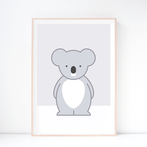 Kids' Art Print – Cute Koala Wall Art and Nursery Decor