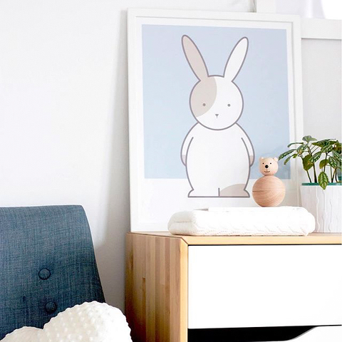 Kids' Art Print – Cute Rabbit Wall Art and Nursery Decor